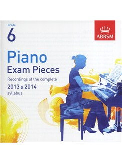 ABRSM Piano Exam Pieces: 2013-2014 (Grade 6) - CD Only CDs | Piano