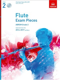 ABRSM Exam Pieces 2014-2017 Grade 2 Flute/Piano (Book/CD) Books and CDs | Flute, Piano Accompaniment
