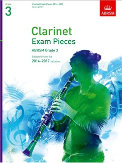ABRSM Exam Pieces 2014-2017 Grade 3 Clarinet/Piano (Book Only) Books | Clarinet, Piano Accompaniment