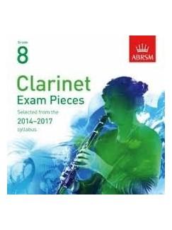 ABRSM Exam Pieces 2014-2017 Grade 8 Clarinet (2 CDs) CDs | Clarinet
