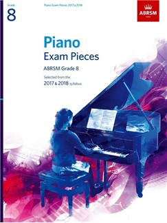 ABRSM Piano Exam Pieces: 2017-2018 (Grade 8) - Book Only Books | Piano