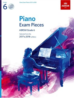 ABRSM Piano Exam Pieces: 2017-2018 (Grade 6) - Book And CD Bog og CD | Klaver solo
