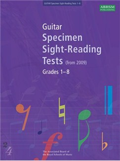 ABRSM Guitar Specimen Sight Reading Tests: From 2009 (Grades 1-8) Books | Guitar