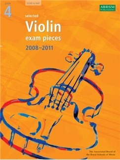 ABRSM Violin Examination Pieces: Grade 4 (2008-2011) Books | Violin, Piano Accompaniment