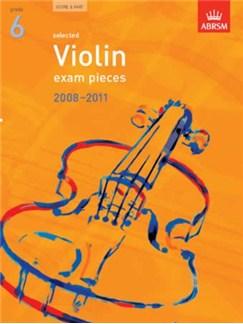 ABRSM Violin Examination Pieces: Grade 6 (2008-2011) Books | Violin, Piano Accompaniment