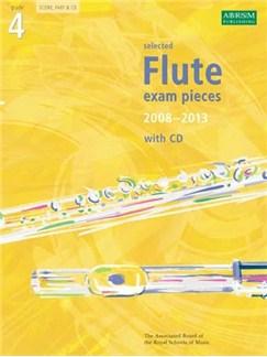 ABRSM Flute Examination Pieces: Grade 4 (2008-2013) - Book/CD Books and CDs | Flute, Piano Accompaniment