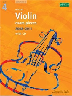 ABRSM Violin Examination Pieces: Grade 4 (2008-2011) - Book/CD Books and CDs | Violin, Piano Accompaniment