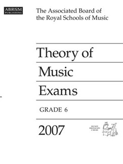 ABRSM Theory Of Music Examinations: Grade 6 (2007) Books |