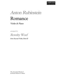 Anton Rubinstein: Romance Books | Violin, Piano Accompaniment