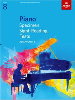 ABRSM Piano Specimen Sight Reading Tests: From 2009 (Grade 8) Books | Piano