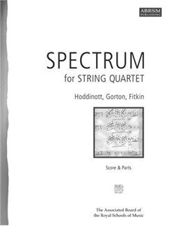 Spectrum For String Quartet - 3 Contemporary Pieces (Score and Parts) Books | String Quartet