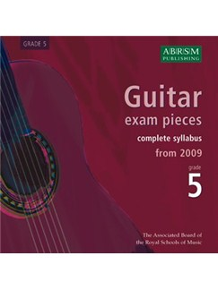 ABRSM: Guitar Exam Pieces From 2009 - Grade Five (CD) CDs | Guitar