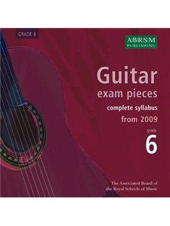 ABRSM: Guitar Exam Pieces From 2009 - Grade Six (CD) CDs | Guitar