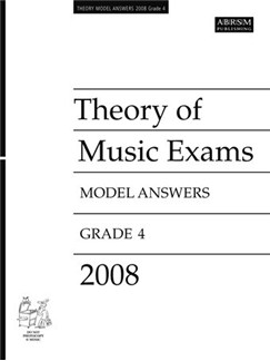 ABRSM Theory Of Music Examinations: Model Answers - Grade 4 (2008) Livre |