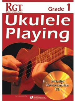 Registry Of Guitar Tutors: Ukulele Playing - Grade 1 (Book/CD) Books and CDs | Ukulele