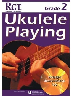 Registry Of Guitar Tutors: Ukulele Playing - Grade 2 (Book/CD) Books and CDs | Ukulele