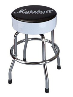 Marshall: Official Bar Stool - Script Logo (Black And White)  |
