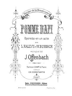 Jacques Offenbach: Pomme D'Api Livre | Voix, Piano