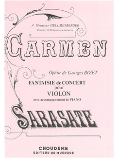 Pablo De Sarasate: Carmen Fantasy Books | Violin, Piano Accompaniment