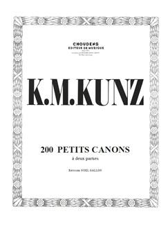 Konrad Kunz: 200 Petits Canons Books | Piano