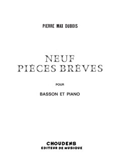 Pierre Max Dubois: Neuf Pièces Brèves Books | Bassoon, Piano Accompaniment