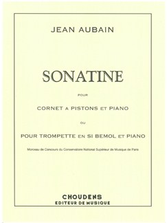 Jean Aubain: Sonatine Books | Cornet, Trumpet, Piano Accompaniment
