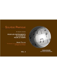 André Trillon: Solfège Pratique Volume 2 - Keyboard & Harp (French) Livre | Clavier, Harpe