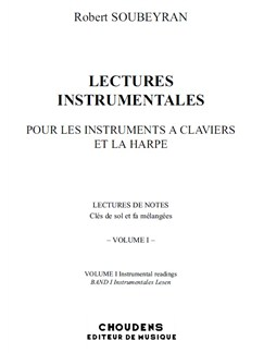 Robert Soubeyran: Lectures Instrumentales - Volume 1 Books | Keyboard, Harp