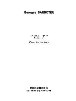 Georges Barboteu: Fa 7 - Pieces For One Horn Books | French Horn
