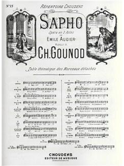 Charles Gounod/Emile Augier: Air De Sapho - No.15 Stances (Mezzo-Soprano) Books | Mezzo-Soprano, Piano Accompaniment