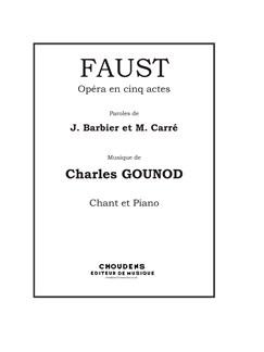 Charles Gounod: Faust - Opéra en cinq actes (Vocal Score) Books | Voice, Piano Accompaniment