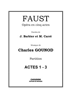 Charles Gounod: Faust - Opéra en cinq actes (Full Score) Books | Orchestra