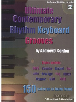 Andrew D. Gordon: Ultimate Contemporary Rhythm Keyboard Grooves (Book/CD) Books and CDs | Keyboard