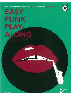 Ed Harlow: Easy Funk Play-Along (Alto Saxophone) Books and CDs | Alto Saxophone