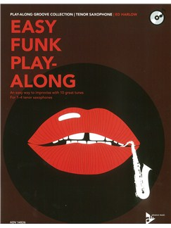 Ed Harlow: Easy Funk Play-Along (Tenor Saxophone) Books and CDs | Tenor Saxophone