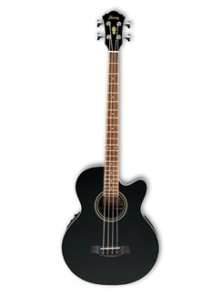 Ibanez: AEB8E Electro-Acoustic Bass Guitar - Black Instruments | Electro-Acoustic Bass Guitar