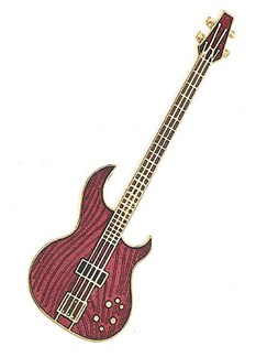 Mini Pin: Aria Electric Bass  | Bass Guitar