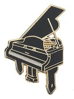 Mini Pin: Grand Piano (Black)  | Guitar