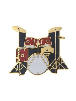 Mini Pin: 5-Piece Drum Set (Red)  | Drums