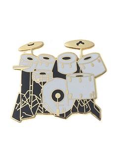 Mini Pin: 7-Piece Drum Set (White)  | Drums