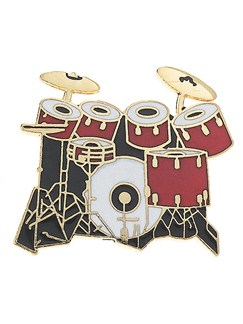 Mini Pin: 7-Piece Drum Set (Red)  | Drums