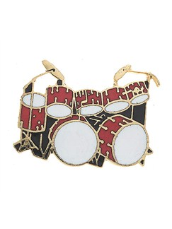 Mini Pin: Double Bass Drum Set (Red)  | Drums