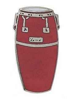 Mini Pin: Conga Drum (Red)  | Drums