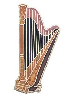 Mini Pin: Concert Harp  | Harp
