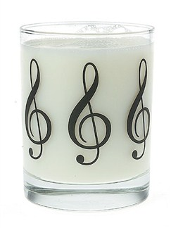Clear Glass Tumbler: Treble Clef  |