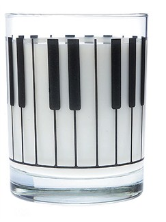 Clear Glass Tumbler: Keyboard  |