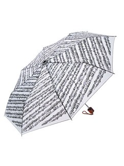 Mini Travel Umbrella: Sheet Music (White)  |