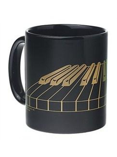 Coffee Mug: Black With 3D Keyboard  |