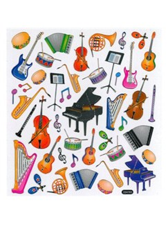 Stickers: Musical Instruments  |
