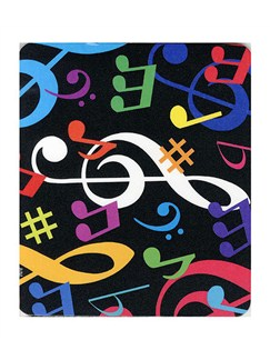 Mouse Mat: Multicolour Musical Notes  |